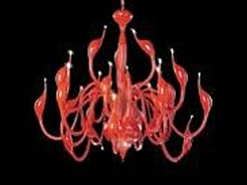 Led kroonluchter Red Flamingo